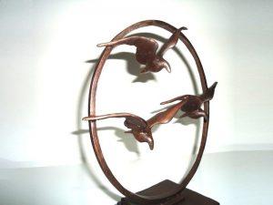 kleine urn beeld vogels