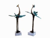 bijzondere mini urnen vogels brons