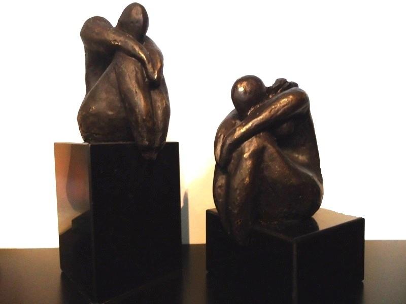 mini urnen beeldjes brons