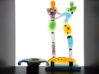 glazen mini urn met gedenkbeeldje