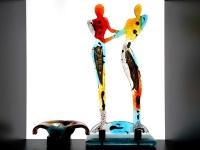 glazen mini urn met beeld verbondenheid