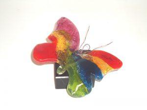 mini urn vlinder glas