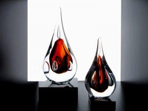 mini urnen druppel glas