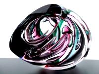 abstracte glazen mini urn