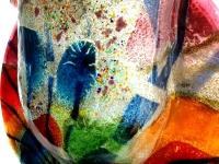 moderne kleurrijke glazen urn