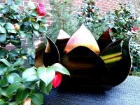 exclusieve bijzondere moderne urn rvs roos