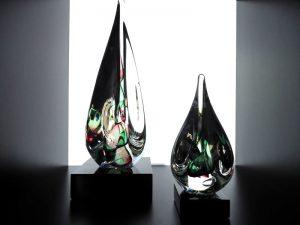 mini urnen glazen druppels
