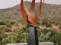 urn beeld buiten modern