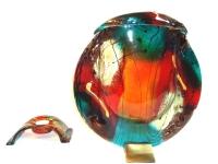 unieke glazen urn kleur