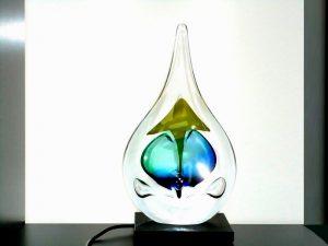 kleine urn glazen druppel led