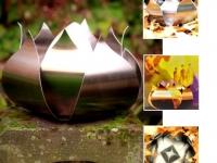 urn metalen roos voor tuin