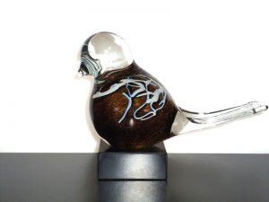 vogel urn glas klein