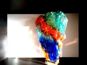 urn beelden glas abstract modern
