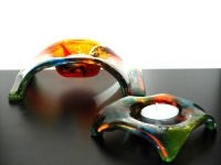 glazen gedachtenislichtjes kleur