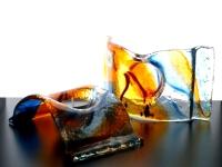 glazen gedenk lichtjes