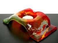 gedenklichtje van glas in kleur