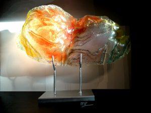prachtige moderne glazen urnen abstract