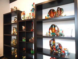 urnen glas kleurrijk