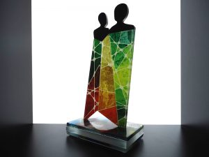 moderne glazen urn