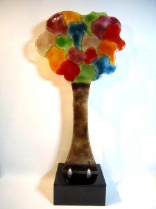 glazen urn levensboom