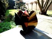 urn tulp rvs uniek exclusief tuin