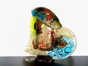 urnen klein glas kleurig modern