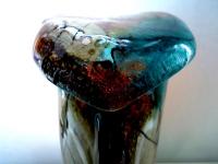 glazen urn modern kleur