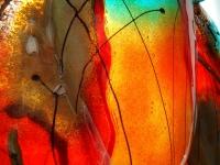 moderne glazen kleurrijke urn