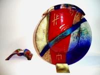 exclusieve glazen urn kleur
