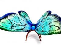 kunst herinnering voor as glazen vlinder