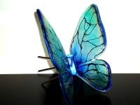 unieke as herinnering vlinder glas