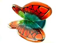 glazen unieke vlinder urn modern