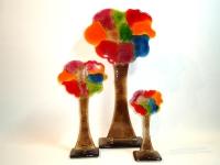 glazen gedenk bomen uniek kleur