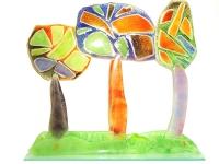 gedenkobject mini urn bomen glas