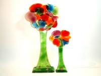 glazen gedenk bomen kleurrijk modern