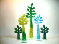 glazen gedenk bomen uniek abstract