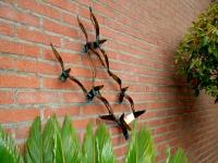 gedenk sculptuur vogels metaal huis tuin