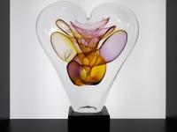 glas hart mini urn uniek