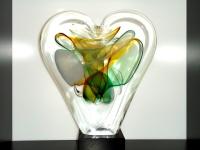 glazen hart urn unieke herinnering