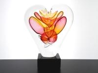 kleine hart urn glas modern