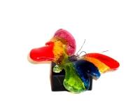 mini urn glazen vlinder kleur