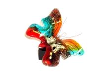 mini urn glazen vlinder kleurrijk