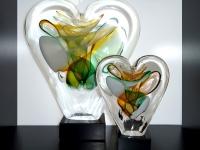 duo urnen hart glas modern