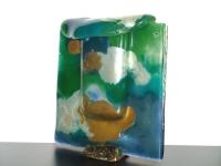 mooie kleine urn glas