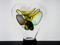 hart urn glas unieke herinnering