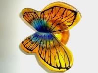 vlinder urn kleurrijk modern glas