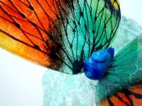 bijzondere mini vlinder urn glas