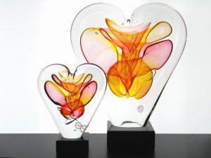 mini urnen glazen harten