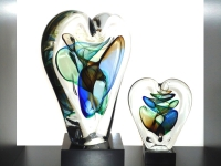 mini hart urnen glas modern