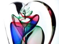 unieke kunstherinnering as hart glas